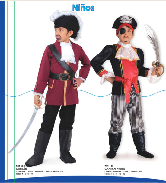 Disfrace para niños de piratas