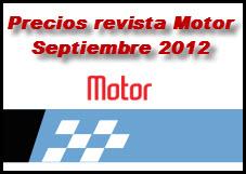 Precios de la revista motor 19 de Septiembre de 2012