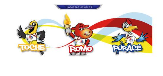 Mascotas Oficiales Juegos Nacionales 2012