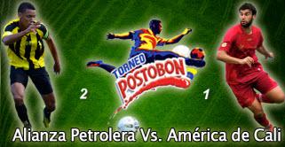 Alianza Derroto 2-1 a América de Cali, en la primera final del ascenso