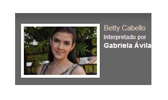 Betty Cabello interpretado por Gabriela Avila Rafael Orozco El idolo