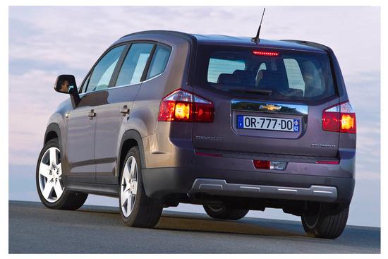 Chevrolet orlando 2013, vista parte trasera
