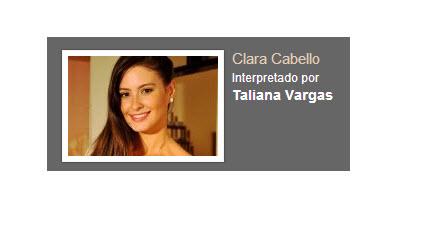 Clara Cabello Interpretado por Tatiana Vargas personaje Rafael Orozco El idolo