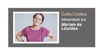 Dona Cristina interpretado por Myriam de Lourdes personaje Rafael Orozco El idolo