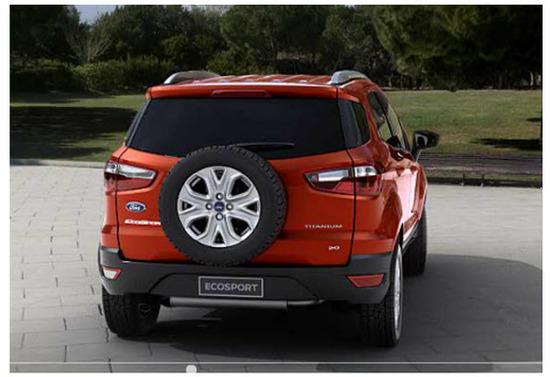 Ford Ecosport con Kinetic Design 2.0, vista parte trasera