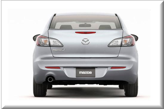 Mazda 3 All New Face Lift, vista parte trasera