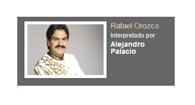 Rafael Orozco interpretado por Alejandro Palacio