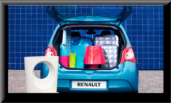 Renault Twingo 2013, color azul