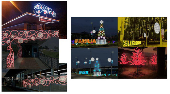 Alumbrado Navideño en Cali 2012 en las estaciones del MIO