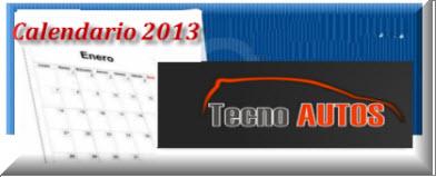 Calendario 2013 Colombia
