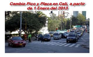 Pico y Placa en Cali  2013