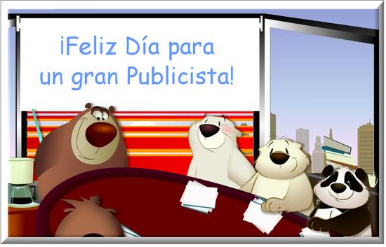 Tarjeta del Día del Publicista
