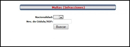 Verificar la cedula para consultar multas de transito en venezuela