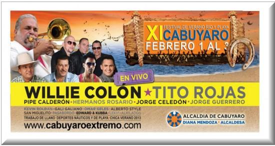 Artistas del Festival De  Verano Rio y Playa Cabuyaro 2013