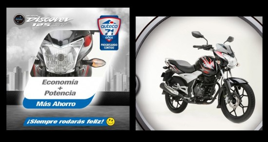 Auteco Bajaj Discover 125 ST 2013, motor 125cc