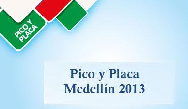Pico y placa  Medellín 2013