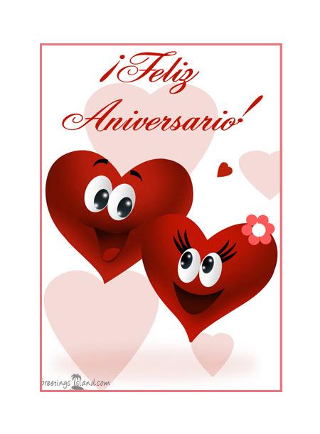 Tarjeta de Aniversario corazones