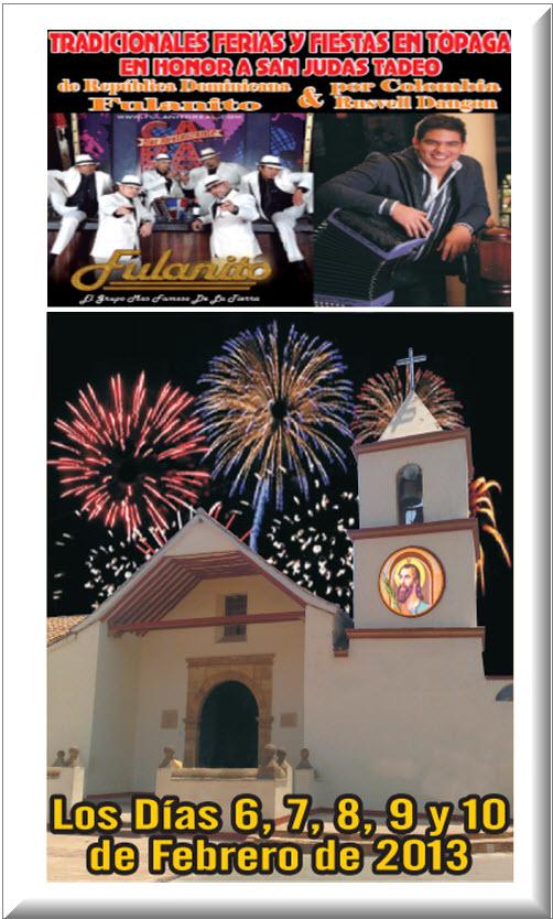 Ferias y Fiestas en Tópaga 2013, en el municipio de Boyaca