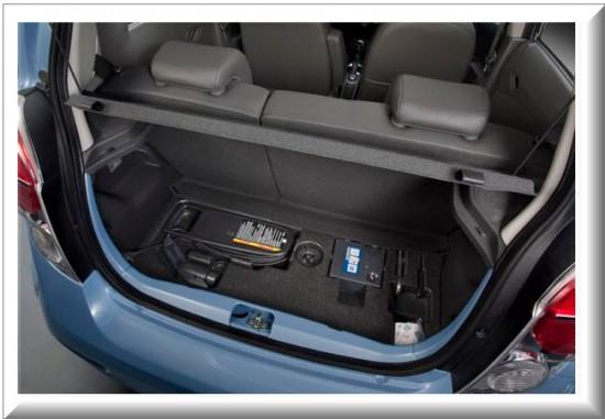 Chevrolet Spark EV, baul