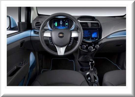 Chevrolet Spark EV, diseño interior