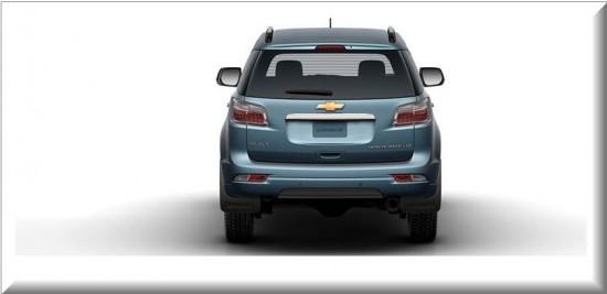 Chevrolet Trailblazer 2013, vista parte trasera