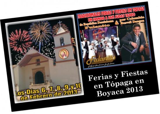Ferias y Fiestas en Tópaga Boyaca