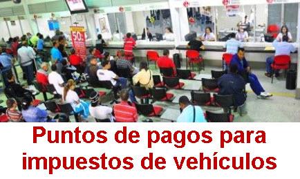 Puntos de pago de impuesto de vehículos en el valle del Cauca 2013