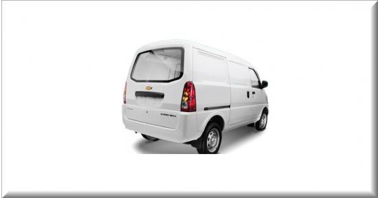 Chevrolet Van N300 cargo vista parte trasera