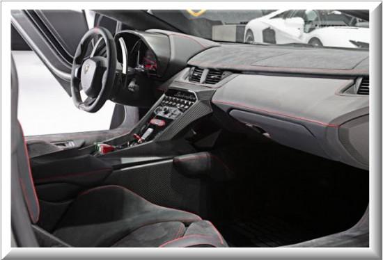 Lamborghini Veneno  2013, diseño interior