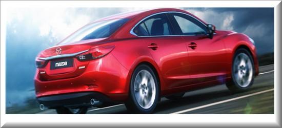 Mazda 6 vista parte trasera
