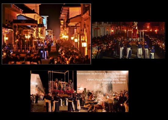 Procesiones durante la Semana Santa en Popayán 2014