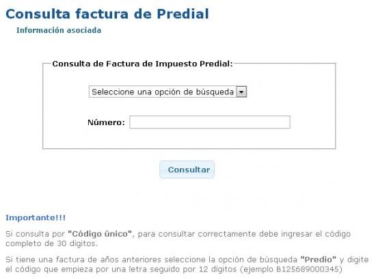 Consultar e imprimir impuesto predial cali 2013