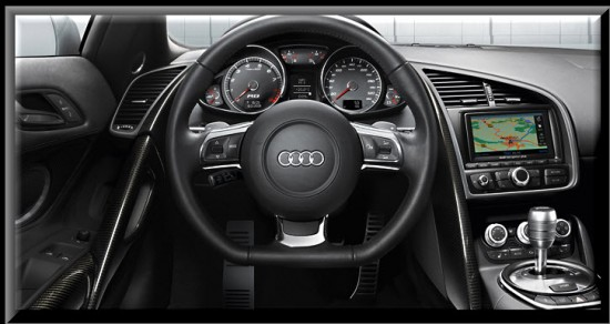 Audi R8, diseño interior