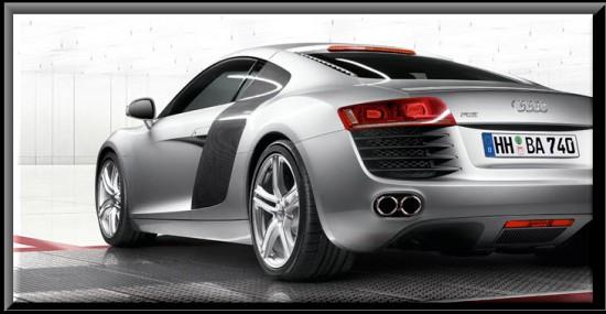 Audi R8, vista parte trasera