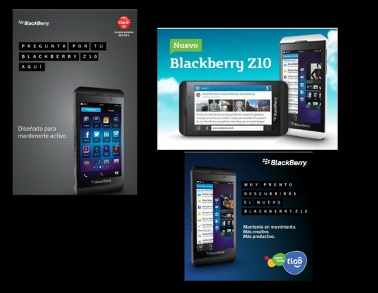 Blackberry Z10 disponible en los tres principales operadores