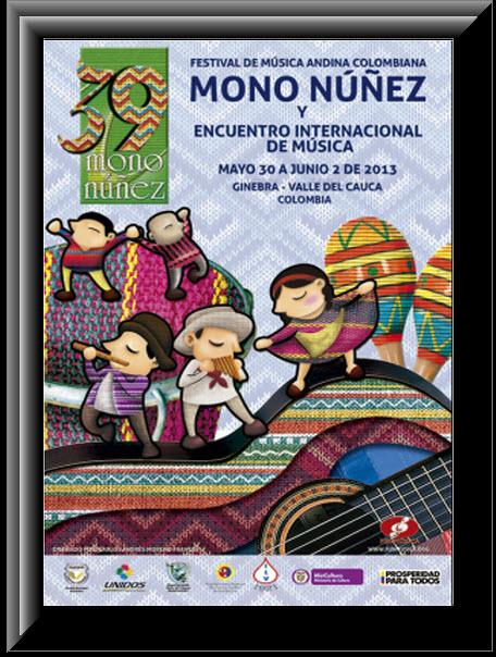 Cartel oficial Festival Mono Nuñez 2013