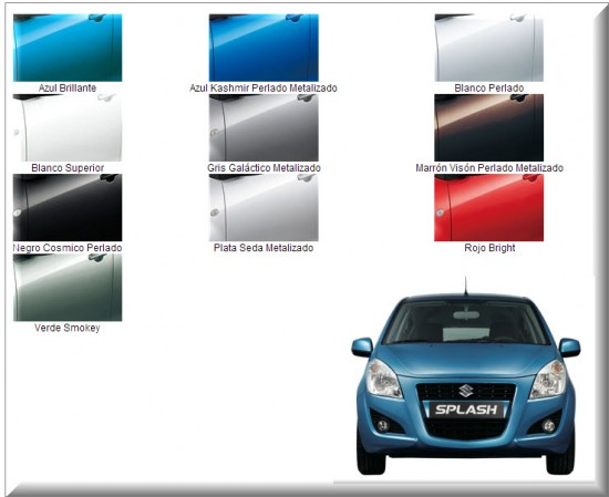 Colores Suzuki Splash
