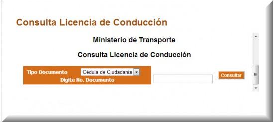 Consulta Licencias de Conducción 2013