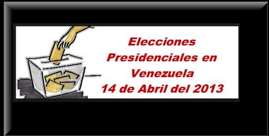 Elecciones Presidenciales en Venezuela 2013