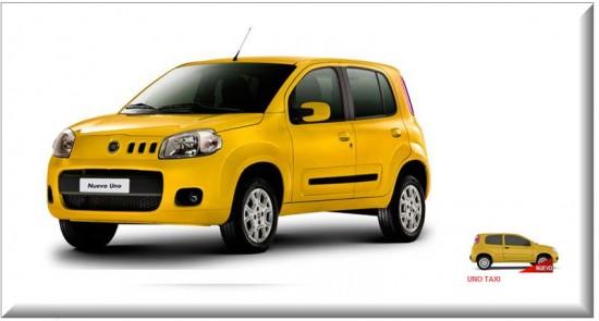Fiat Uno Taxi, vista parte exterior