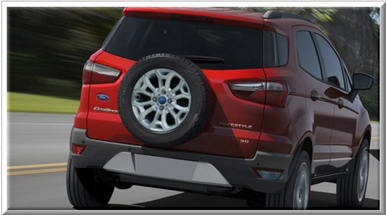 Ford Ecosport Titanium, vista parte trasera
