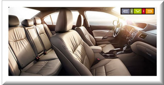 Honda Civic 9 Face Lift, diseño interior