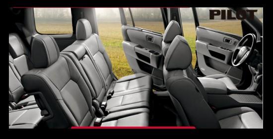 Honda Pilot EXL, confort