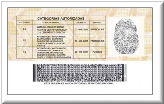 Licencia de Conducción en Colombia 2013