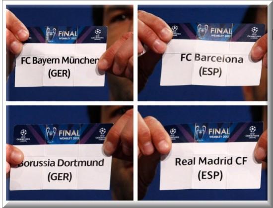 Sorteo Semifinales de la Champions