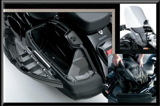 Suzuki Intruder C1500T, maletas laterales