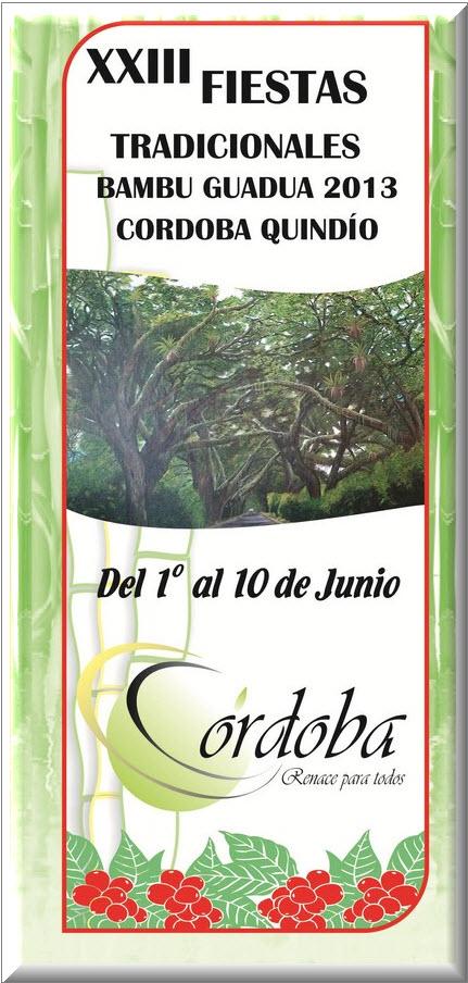 Afiche oficial Fiestas Tradicionales del Bambú  2013