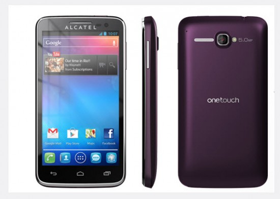 Alcatel One Touch X, Pop color berenjena