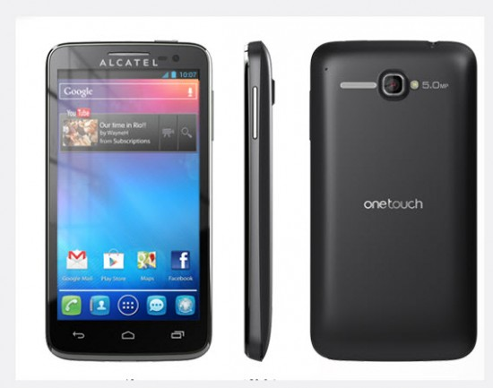 Alcatel One Touch X Pop, color negro