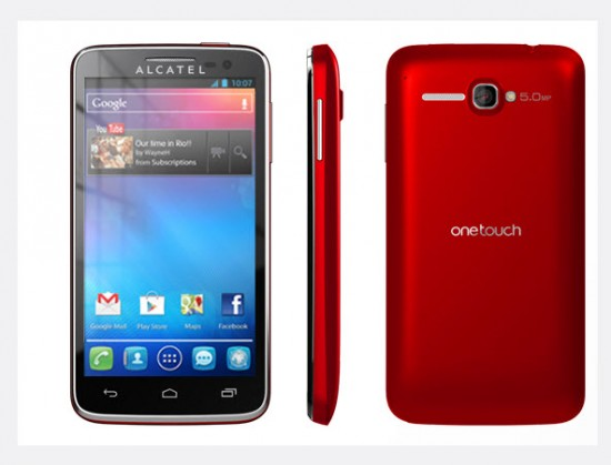 Alcatel One Touch X Pop, color rojo